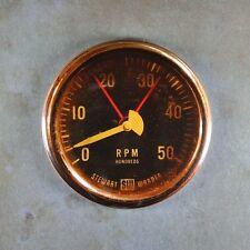 "Vintage Rpm Gauge Fridge Magnet 2 1/4"" Steampunk Dieselpunk Rat Rod Rusted"