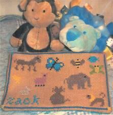 The Sampler Girl ZACK'S ITTY BITTY BLANKIE NO. 1 BABY ANIMALS Cross Stitch Chart