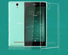 Glossy Clear Crystal Transparent Hard Plastic Case Cover Skin For Sony Xperia C3
