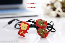 Iron Man Superhero ironman novelty earphones 3.5MM in-ear headphones. UK SELLER