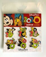 NEW DISNEY PARKS 2020 MICKEY AND FRIENDS 6 PIN BOOSTER SET