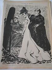 Caricature 1899 de Hermann Paul  La Robe de Mariée