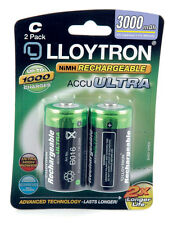 Lloytron Size C, 3000mAH, AccuUltra LR14, Pack of 2, Ni-Mh Rechargeable Battery