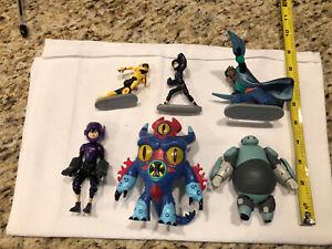 Nice Lot of 6 Disney Big Hero 6 Action Figures Hiro GoGo Wasabi & More