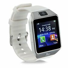 DZ09 Bluetooth Smart Watch Phone SIM Card For Android IOS iPhone Samsung White