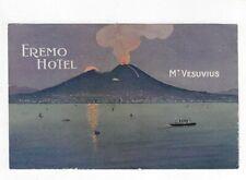 Beautiful Mount Vesuvius Vesuvio Volcano Eremo Hotel Italy Italia Luggage Label