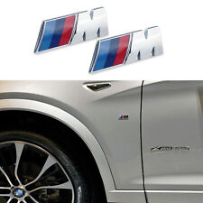2 Ps Decal Alloy M Color Sports Performance Side Silver Sticker Badge For BMW