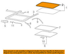 2006-2010 HUMMER H3 SUN ROOF GLASS WEATHER STRIP SEAL NEW GM # 15242781
