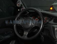 CARBON FIBER STEERING WHEEL COVER TRIM FOR MITSUBISHI EVOLUTION EVO 7 8 9