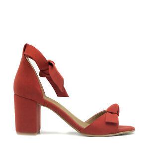 Vegan sandal middle chunky block heel peep toe ankle-strap knot casual summer