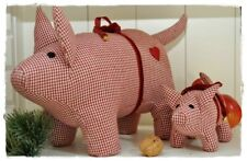 RED CHECK Stoffschwein 30cm by Artefina | Weihnachten, X-MAS