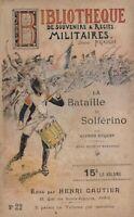 BIBLIOTHEQUE DES SOUVENIRS & RECITS MILITAIRES - N° 1 - HENRI GAUTIER 1896