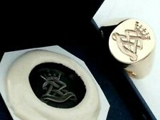 Military Seal 9ct gold signet ring 10 grms with wax impression for future orders