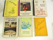 VINTAGE LOT OF 6 COOKBOOKS RECIPES BAKING CHURCH SPIRITUAL MICROWAVE HOSPITAL