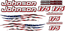 LG Johnson outboard motor decal kit - ALL ENGINE SIZES - Flag graphic - boat