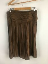 NEW COUNTRY ROAD size 12 100% silk habitue skirt RRP $229