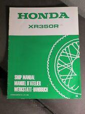 Honda Shop Manual Supplement Addendum nachtrag XR350R 1985
