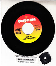 """JOHNNY CASH  Don't Take Your Guns To Town & Five Feet High And Rising 7"""" 45 NEW"""
