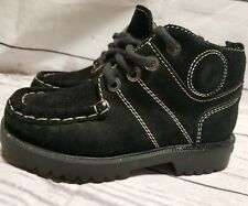 Naturino toddler boots size 28 black suede made in Italy usa~11 boys