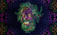 UV Backdrop Fluorescent Glow Tapestry Psychedelic Art Banner Psy Wall Hanging