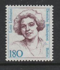 Germania BERLINO 1986-89 DONNE FAMOSE 180pf lotte Lehmann SG B743 Gomma integra, non linguellato