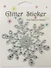 Rhinestone Glitter Snowflake Stickers Winter Christmas Frozen Craft Scrapbooking