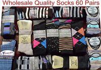 60 Pair Men Gents Suit Casual Quality Socks Clearance Wholesale Job Lot Car Boot