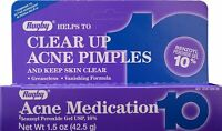 Rugby Acne Medication Benzoyl Peroxide Gel 10% Max Strength 1.5 oz (Pack of 10)
