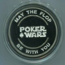 POKER WARS - silver color Card Guard Protector Cover
