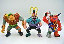 Lot (3) Vintage 1989 90 1991 TMNT Ninja Turtles Scumbag Tragg Ground Chuck