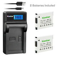 Kastar NB-11L Battery / Charger for Canon PowerShot SX410 SX400 IS ELPH 320 340