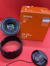 Sony SEL 50mm f/1.8 FE Lens - Black (SEL50F18F)