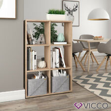 VICCO Raumteiler - 6 Fächer Regal Bücherregal Standregal Hochregal Sonoma