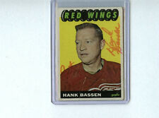 HANK BASSEN SIGNED/AUTOGRAPHED 1965-66 TOPPS HOCKEY CARD #106 D.2009 REDWINGS