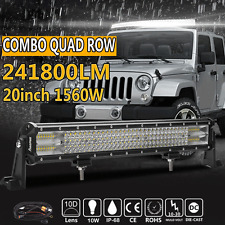Cree 20inch Quad row 1560W 10D LENS LED WORK LIGHT BAR For Jeep 4WD Ford Offroad