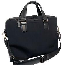 $345 TUMI Black Nylon / Leather Harrison Seneca Slim Laptop Briefcase Bag.