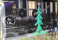 RARE Christmas Tree Light Show  Christmas Yard Decor Yard Art