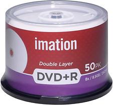 600 Imation 8X DVD+R DL 8.5GB White Inkjet HUB Printable Dual Layer Blank Disc