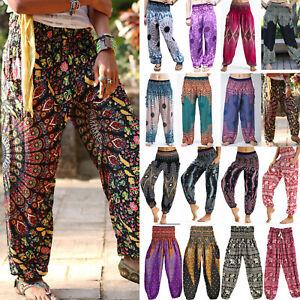 Unisex Women Yoga Pants  Harem Boho Baggy Hippie Bohemian Aladdin Genie Trousers