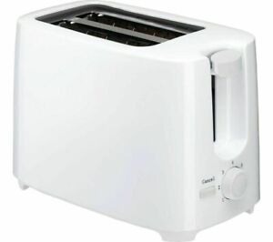 White 2 Slice Wide Slot Cool Touch Toaster With 7 Stage Variable Browning 700W