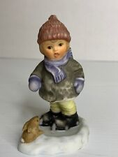 Goebel FIGURINE 2001 SLOW AND STEADY BH 101P Winter Snow Child Bunny Rabbit