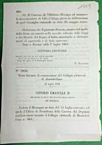 MONTEBELLUNA ,REGIO DECRETO CONVOCAZIONE COLLEGIO ELETTORALE-1503