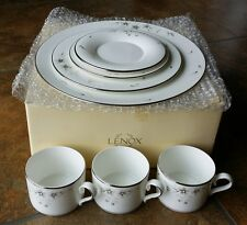 7 pcs Lot of Lenox Sheer Bliss plates cups saucers NEW