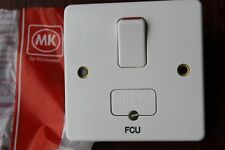 """MK K330 WHI 13A DP Switched Fused Connection Unit + flex out White Marked """"FCU"""""""