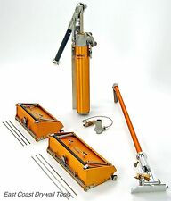 "TapeTech 10"" & 12"" drywall Flat Box set w/ 34"" handle and Pump Free Blades!"