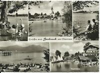 Ansichtskarte Seebruck am Chiemsee - mit Seglerhafen u. a. - schwarz/weiß