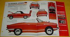 1967 NSU Wankel Spider Convertible Rotory Engine 497cc Info/Specs/photo 15x9