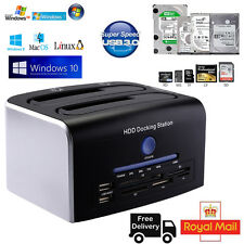 "HDD Docking Station USB 3.0 a doppio hard drive SATA 6 Gbps 2.5""/3.5 Docking"