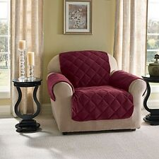 Innovative Textile Solutions Microfiber Wing Recliner Protector Burgundy NEW!