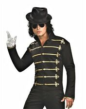Michael Jackson BLACK Military Jacket Pullover Shirt Adult Mens Costume
